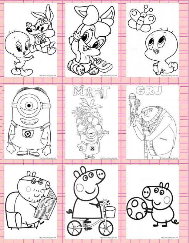 儿童卡通填色-coloring-book