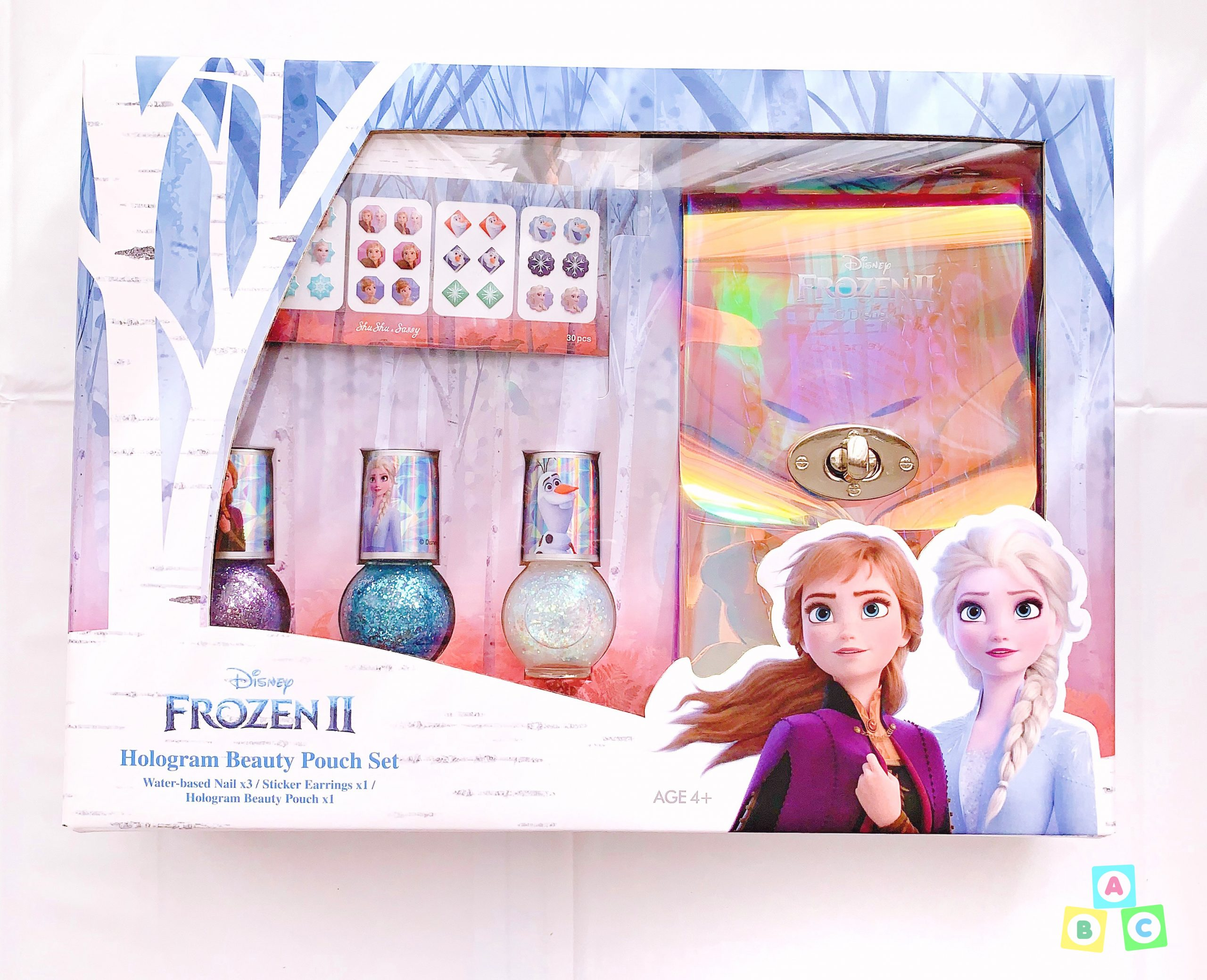 Shushu Sassy Frozen 2 Hologram Beauty Pouch Set