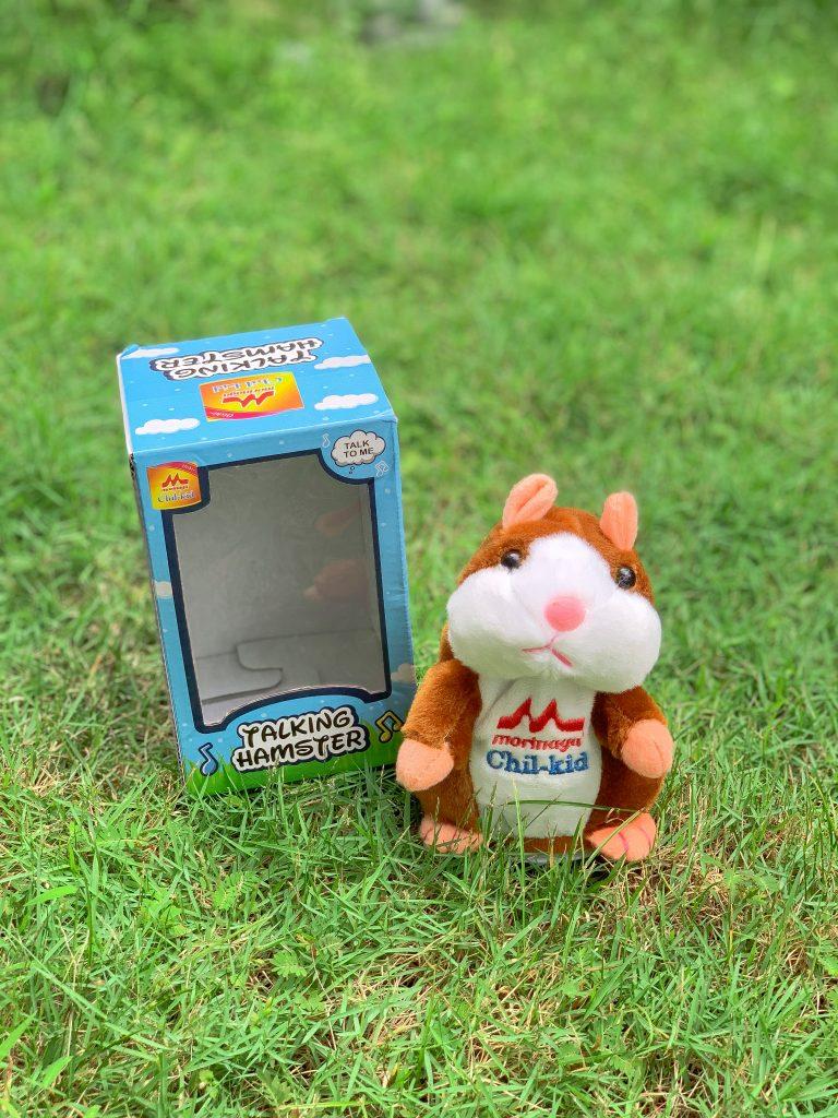Morinaga Talking Hamster on Grass